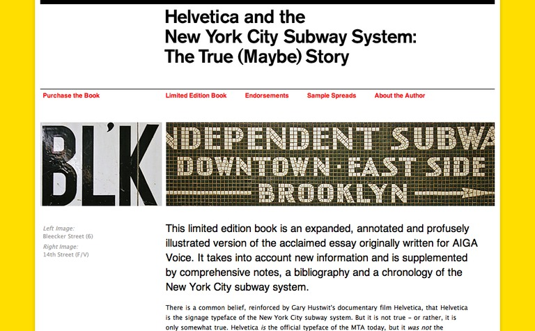 Helvetica and the New York City Subway