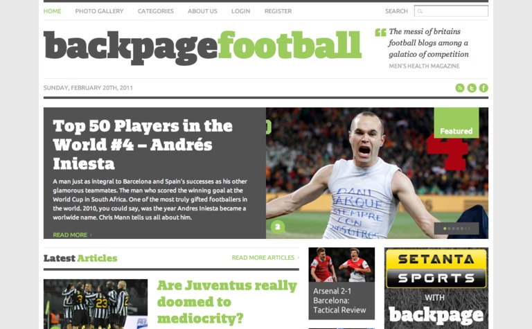 Back Page Football