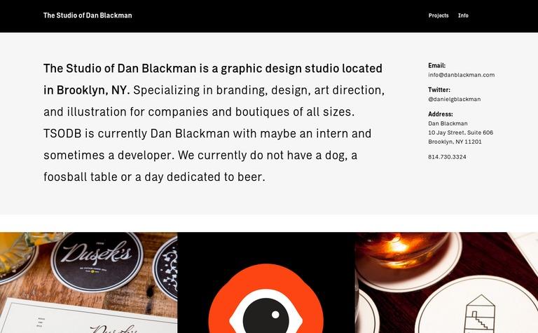 The Studio of Dan Blackman