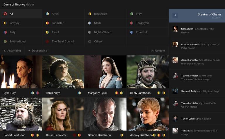 Game of Thrones Helper