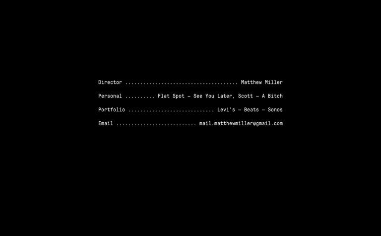 Matthew Miller — Home