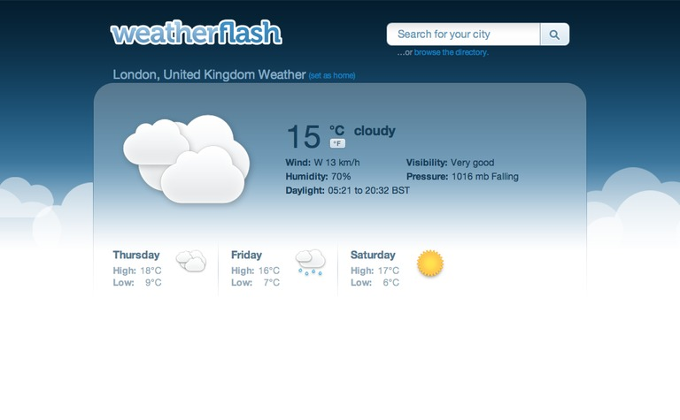 Weather Flash