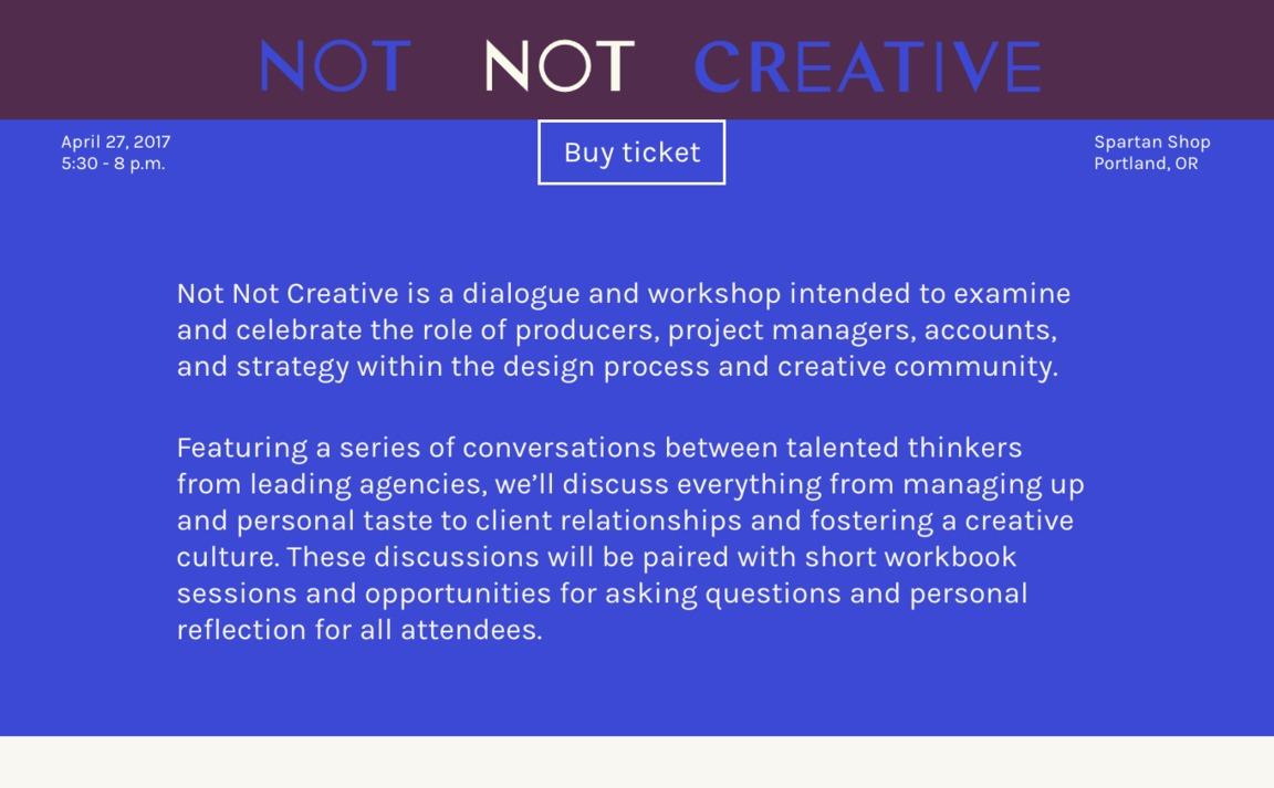 Not Not Creative