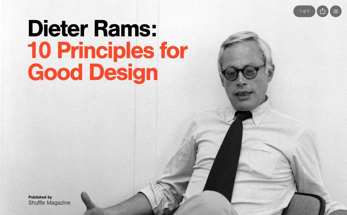 Dieter Rams: Ten Principles For Good Design