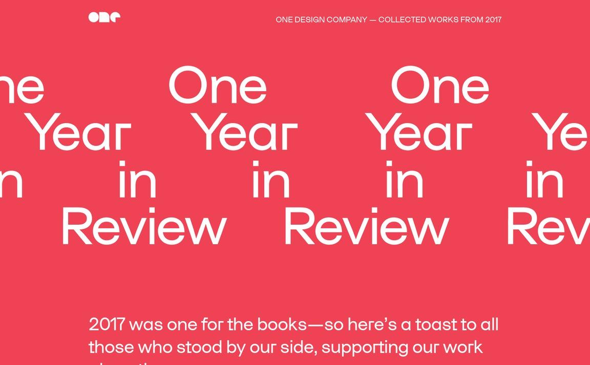 One Design Company 2017 Annual Report