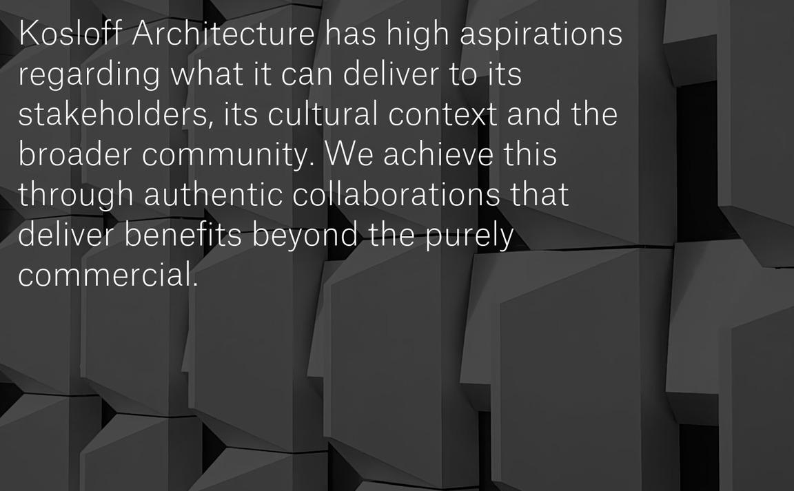 Kosloff Architecture …