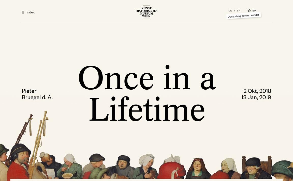Pieter Bruegel — Once in a Lifetime