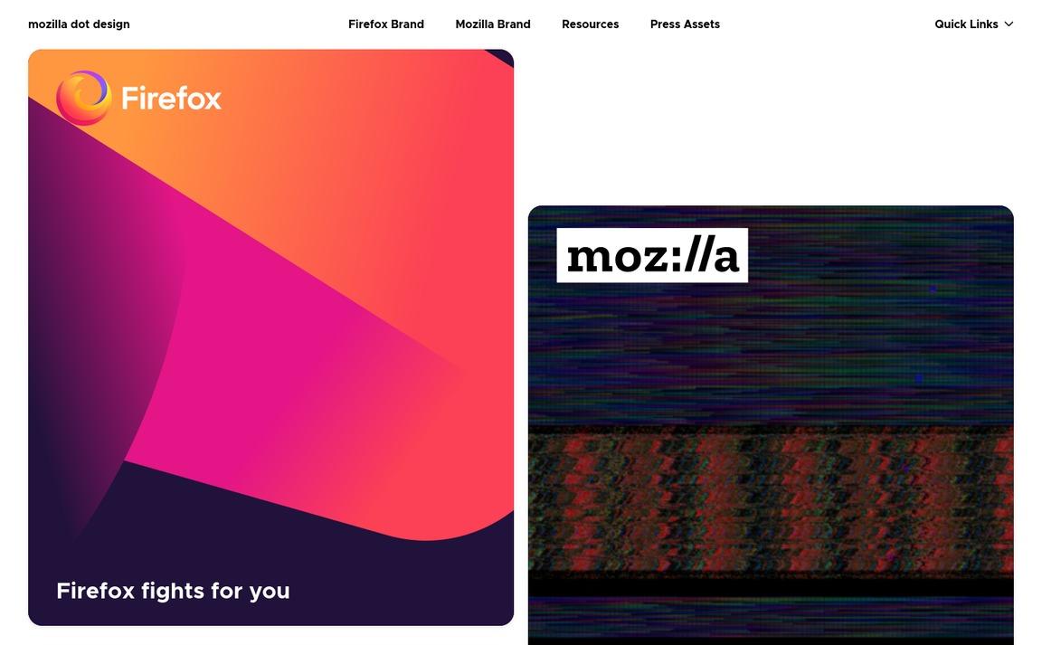 Mozilla Dot Design