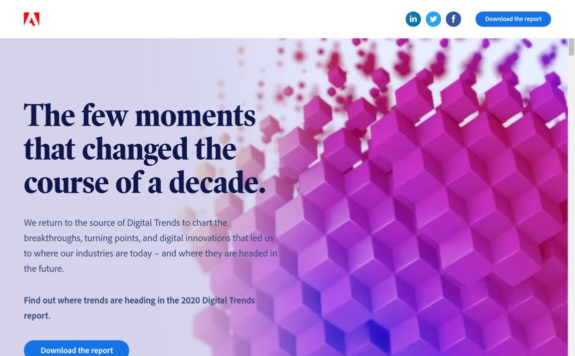 Adobe — 2020 Digital Trends