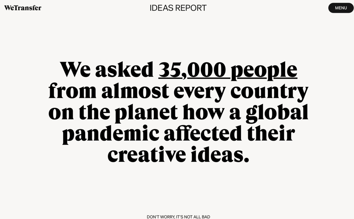 WeTransfer Ideas Report 2020