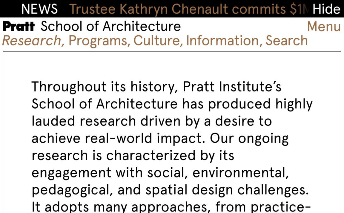 Pratt School of Architecture
